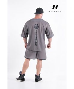 bodybuilding t-shirt grijs - nebbia hard core t-shirt 305-2