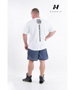bodybuilding t-shirt wit - nebbia hard core t-shirt 390-2