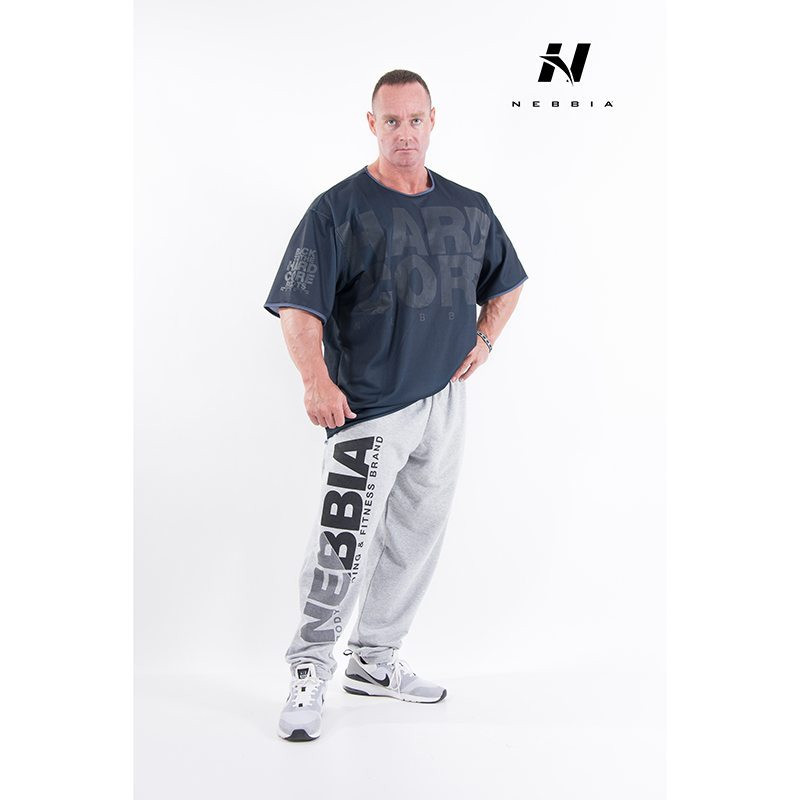 bodybuilding t-shirt zwart - nebbia hard core t-shirt 305-3