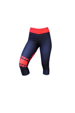 Korte Legging Blauw Rood - Mfit Sportswear Blocks-2