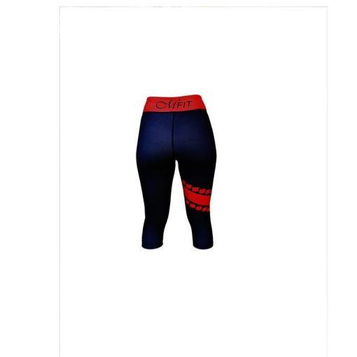 Korte Legging Blauw Rood - Mfit Sportswear Blocks-4