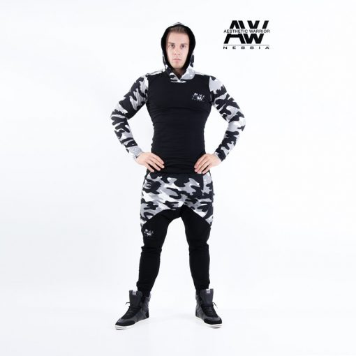 Nebbia Jacket 116 - Bodybuilding Vest Camo Wit-1