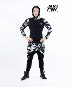 Nebbia Sweatpants 117 - Bodybuilding Lange Broek Camo Wit-1
