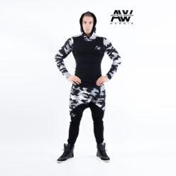 Nebbia Sweatpants 117 - Bodybuilding Lange Broek Camo Wit-1