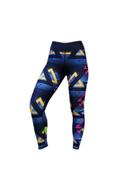 Sportlegging Zwart Blauw - Mfit Sportswear Triangle-2