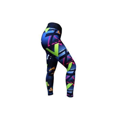 Sportlegging Zwart Blauw - Mfit Sportswear Triangle-3