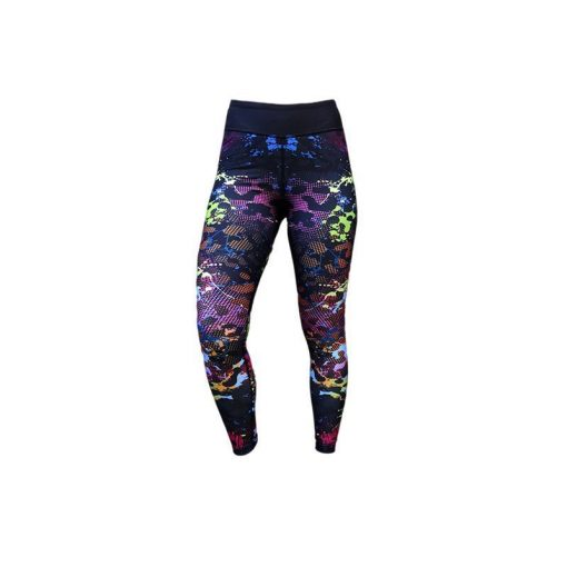 Sportlegging Zwart Paars - Mfit Sportswear Color Panter-3