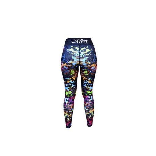 Sportlegging Zwart Paars - Mfit Sportswear Color Panter-5