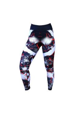 Sportlegging Zwart Rood - Mfit Sportswear Redfire-2