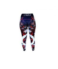 Sportlegging Zwart Rood - Mfit Sportswear Redfire-4