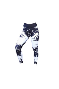 Sportlegging Zwart Wit - Mfit Sportswear White Warrior-2