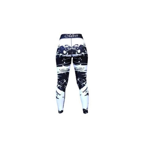 Sportlegging Zwart Wit - Mfit Sportswear White Warrior-4