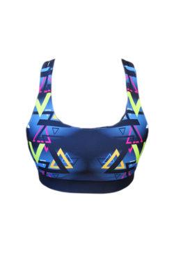 Sporttop Zwart Blauw - Mfit Sportswear Triangle-2