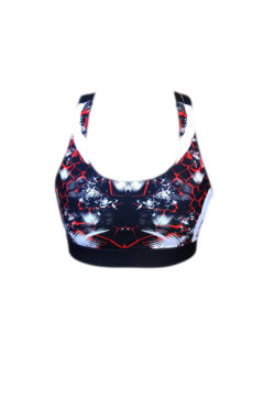 Sporttop Zwart Rood - Mfit Sportswear Redfire-2
