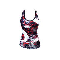 Tanktop Zwart Rood - Mfit Sportswear Redfire-2