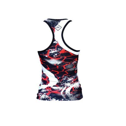 Tanktop Zwart Rood - Mfit Sportswear Redfire-3