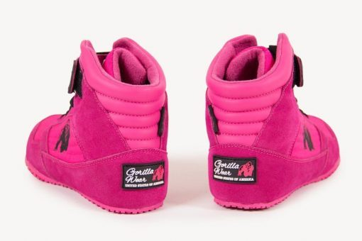 sportschoenen roze gorilla wear high tops close up 3