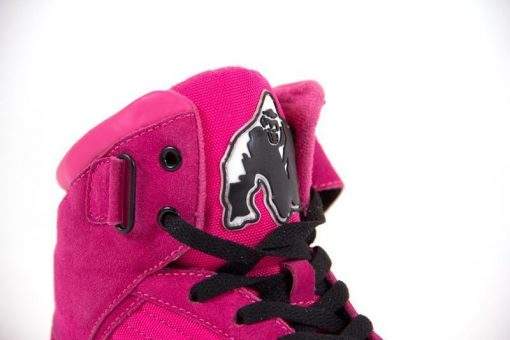 sportschoenen roze gorilla wear high tops close up 2