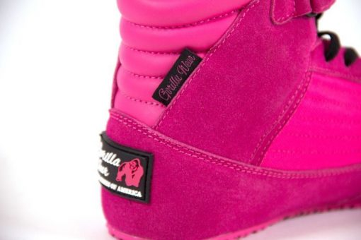 sportschoenen roze gorilla wear high tops close up 1