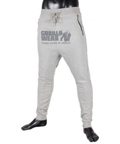 gorilla wear alabama drop crotch joggers grijs-1