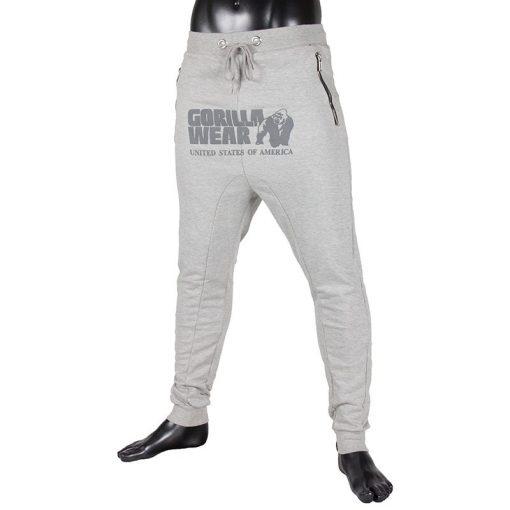 gorilla wear alabama drop crotch joggers grijs-1