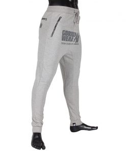 gorilla wear alabama drop crotch joggers grijs-2