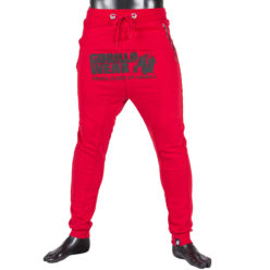 gorilla wear alabama drop crotch joggers rood-1