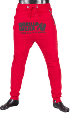 gorilla wear alabama drop crotch joggers rood-1