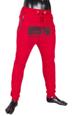 gorilla wear alabama drop crotch joggers rood-2
