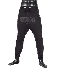 gorilla wear alabama drop crotch joggers zwart-1