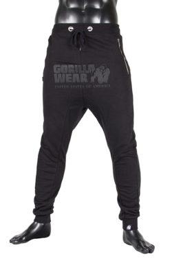 gorilla wear alabama drop crotch joggers zwart-1