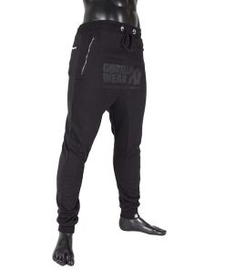 gorilla wear alabama drop crotch joggers zwart-2