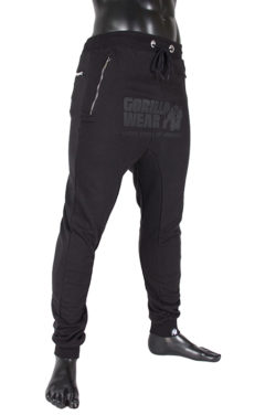 gorilla wear alabama drop crotch joggers zwart-2