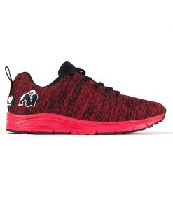 gorilla wear brooklyn knitted sneakers rood-zwart-1