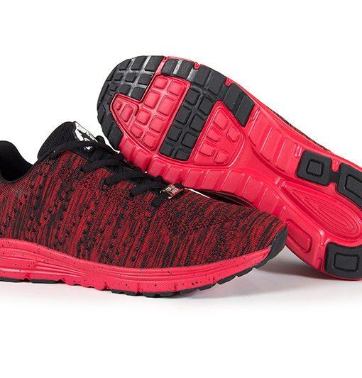 gorilla wear brooklyn knitted sneakers rood-zwart-2