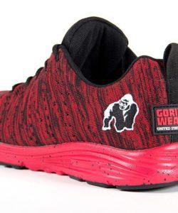 gorilla wear brooklyn knitted sneakers rood-zwart-3