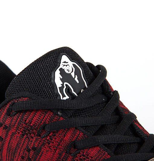 gorilla wear brooklyn knitted sneakers rood-zwart-5