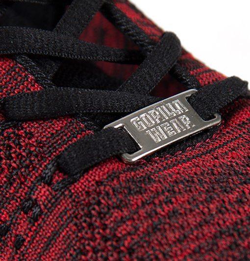 gorilla wear brooklyn knitted sneakers rood-zwart-6