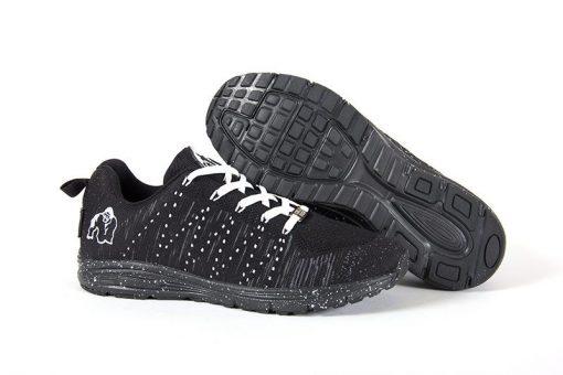 gorilla wear brooklyn knitted sneakers zwart-wit-2