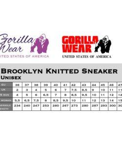 gorilla wear maattabel knitted sneakers