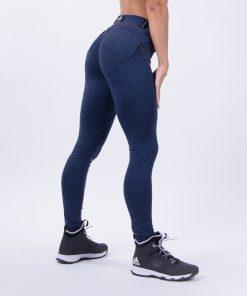 push up broek blauw nebbia bubble butt pants blauw zijkant