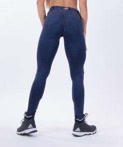 push up broek blauw nebbia bubble butt pants blauw achterkant