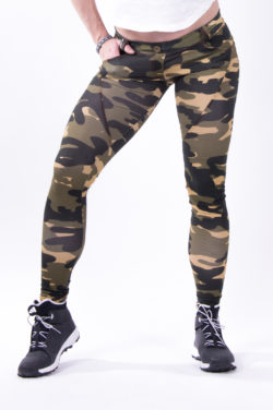 push up broek camo nebbia bubble butt pants camo voorkant