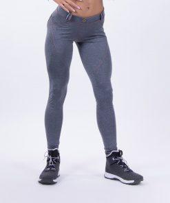 push up broek grijs nebbia bubble butt pants grijs voorkant
