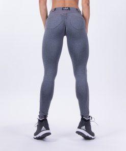 push up broek grijs nebbia bubble butt pants grijs achterkant