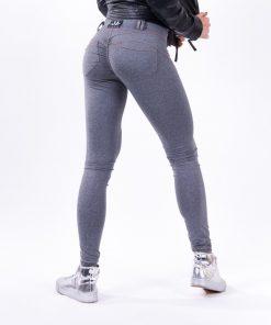 push up broek grijs nebbia bubble butt pants grijs zijkant