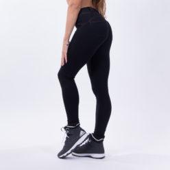 push up broek zwart nebbia bubble butt pants zwart zijkant