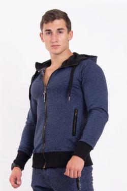 Nebbia Jacket 109 - Bodybuilding Vest Blauw voorkant