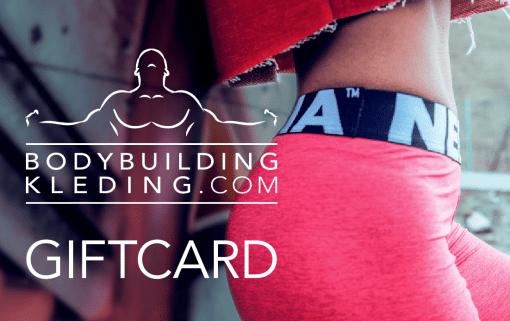 Bodybuildingkleding.com Cadeaukaart giftcard vrouwen