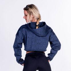 Fitness Crop Top Hoodie Blauw - Nebbia Crop Top 276-2